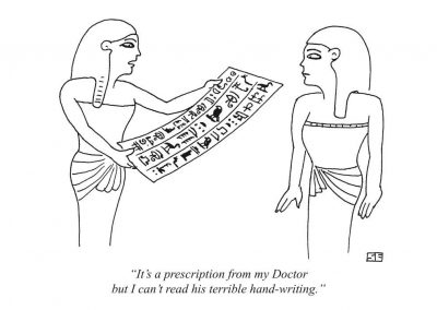 Egyptian doctors prescription