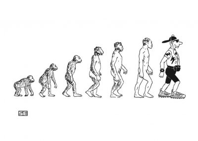 Evolution_ape to trendy