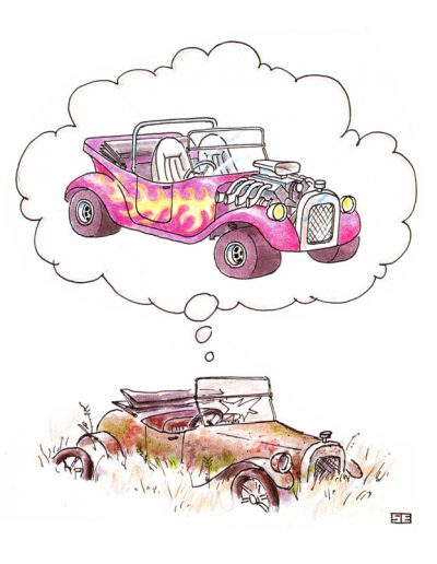 Jalopy dream of hot rod